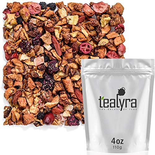 Tealyra - Tropical Harvest - Dragon Fruit - Sea Buckthorn - Goji - Pineapple - Cranberry - Fruity Herbal Loose Leaf Tea - Caffeine Free - Hot or Iced - 112g (4-ounce)