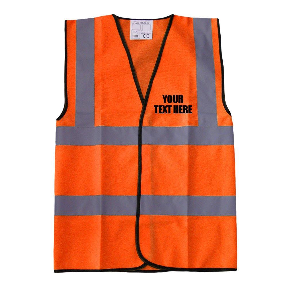 Custom Printed High Visibility Childrens Hi Vis Viz Vest Safety Waistcoat All Colours /& Sizes