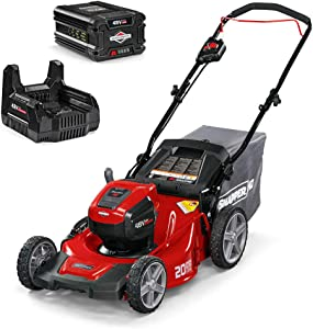 Snapper HD 48V MAX Cordless Electric 20-Inch Lawn Mower Kit with 5.0 Battery and Rapid Charger
