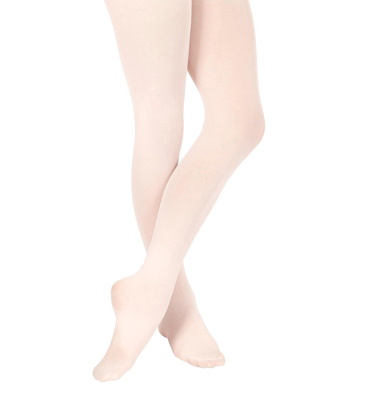 con piede Dance Line Calze da danza classica da donna colore rosa