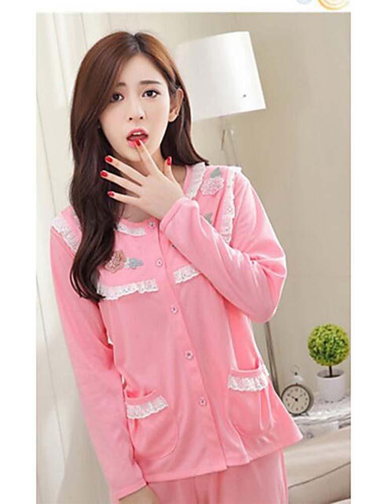 WWQY Women's Cotton Pajama , blushing pink , l