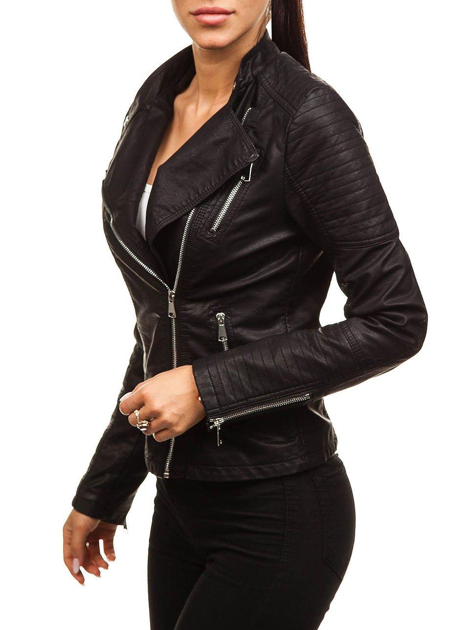 BOLF – Giacca in pelle – Chiodo – Di moda – Casual – Da donna D4D FEIFA FASHION 88008