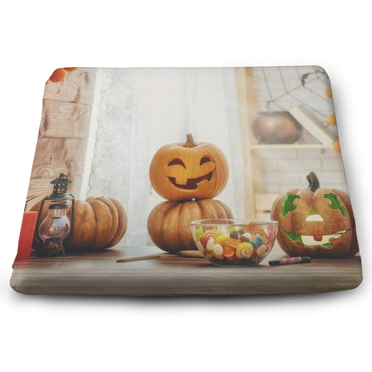 Amazon.com: HACVREQ Custom Chair Cushions-Halloween Trick Or ...