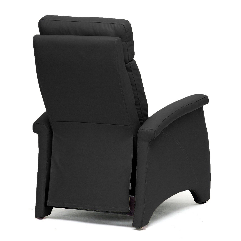 Amazon Baxton Studio Sequim Modern Recliner Club Chair Black