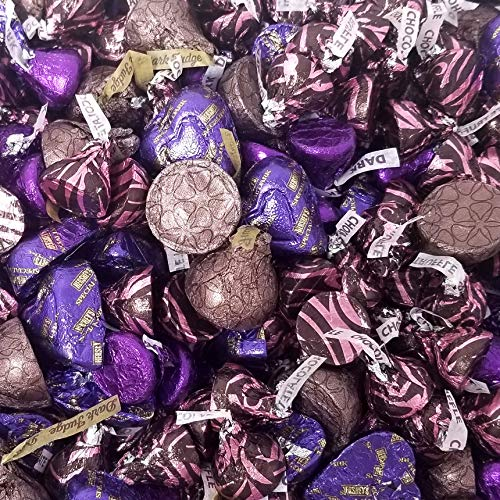 CrazyOutlet Pack - Chocolate Candy Assortment For Dark Chocolate Candy Lovers, Mother's Day, 3 lbs Bulk Pack Of Kisses Deluxe, Kisses and Hershey Hearts