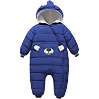 famuka Baby Boys and Girls Snowsuit Toddler Bear One-Piece Outerwear Coat