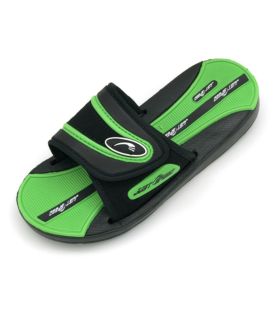 Just Speed Boys Sandals Colors (4, Black Green)