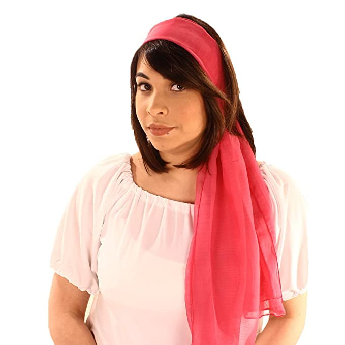 Shop 1950s Hair Accessories Long Sheer Chiffon Scarf in Solid Colors - Hey Viv ! $14.00 AT vintagedancer.com