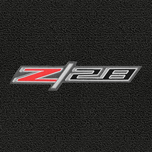 (Lloyd Mats - Classic Loop Ebony Standard Trunk Mat For Camaro Z/28 Coupe 2014-15 with Silver, Black and Red Z/28 Logo)