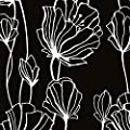 Norwall BW28739 Black and White 2 Floral Wallpaper