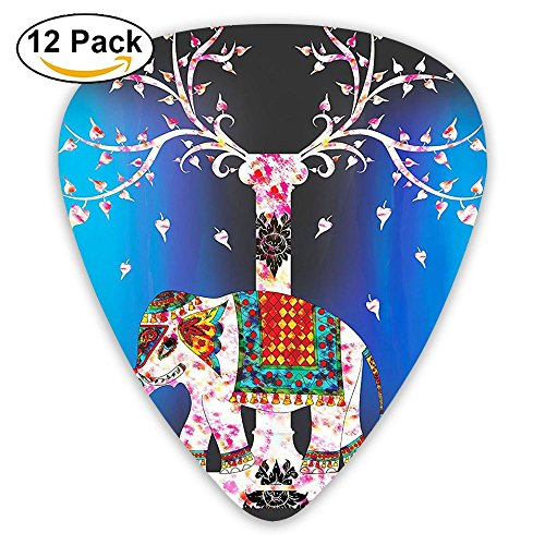 (Newfood Ss Elephant Tapestry Tree Of Life Ethnic Tribal Indian Design Guitar Picks 12/Pack Set)