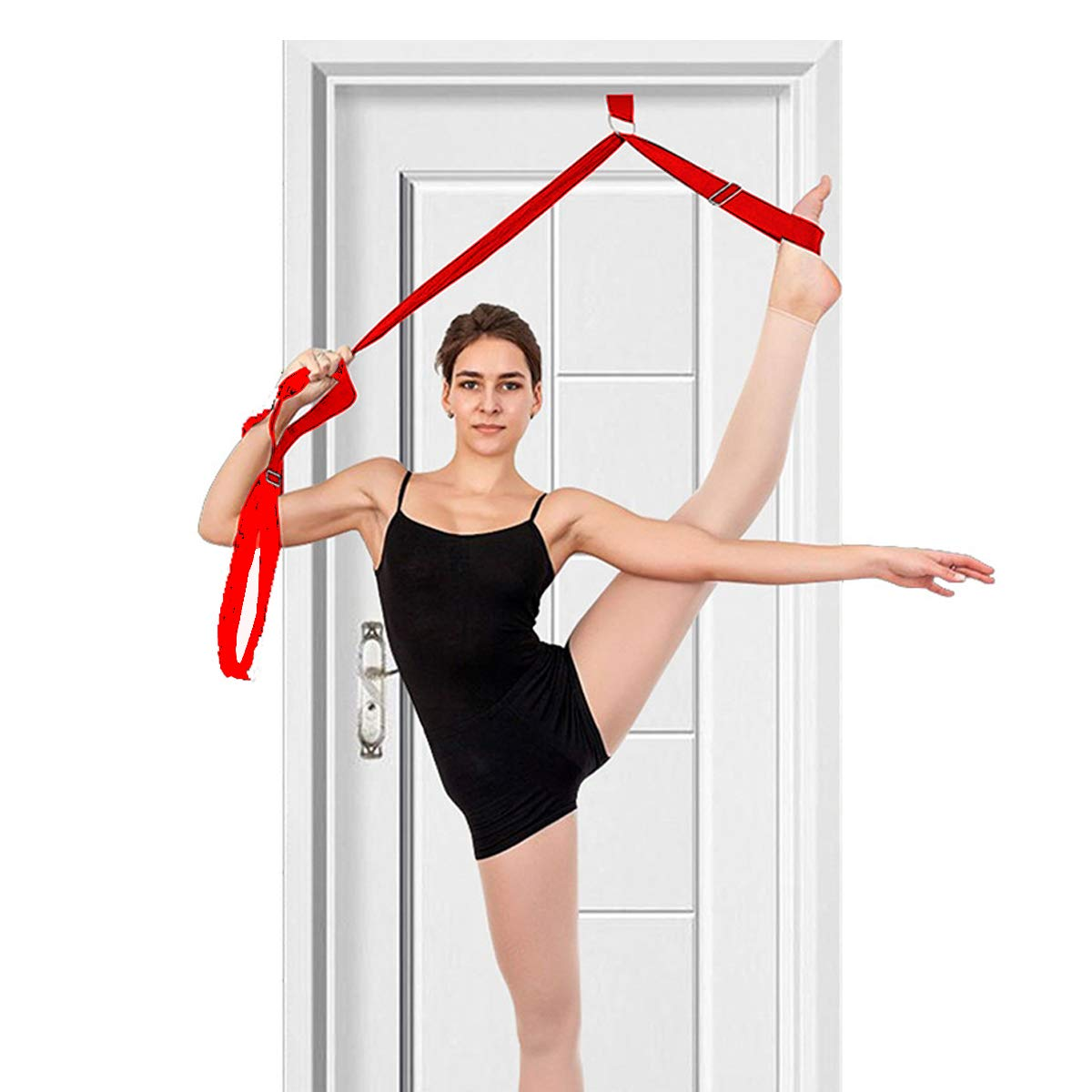 Rouge tchrulesAZB /Écarteur de Jambe flexibilit/é de Porte et Sangle /étirable Id/éal pour Le Ballet Cheer Dance Gymnastique ou Tout Autre Sport /étireur de Jambe