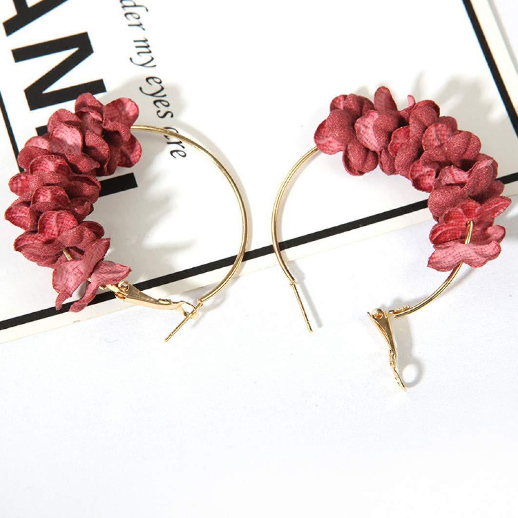 Fashion Girls Big Hoop Earrings Female Ethnic Flowers/Earrings Women Lady Simple Personality Fairy Earrings