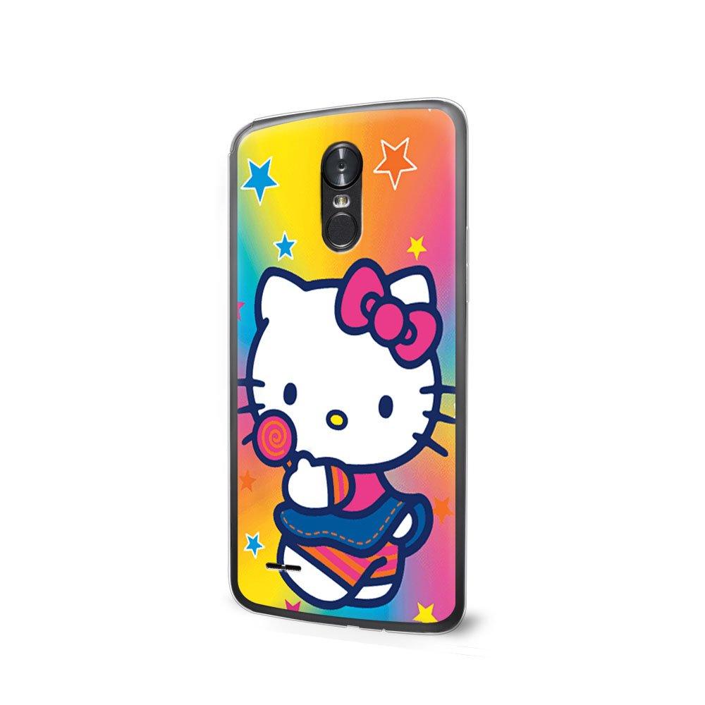 GSPSTORE LG K4 2017 Case Hello Kitty Hard Plastic Protector Case Cover For LG K4 2017/LG Phoenix 3/LG Fortune #04