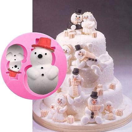 Molde muñeco nieve decoración navideña NAVIDAD tartas pasteles pasta Azúcar Cake