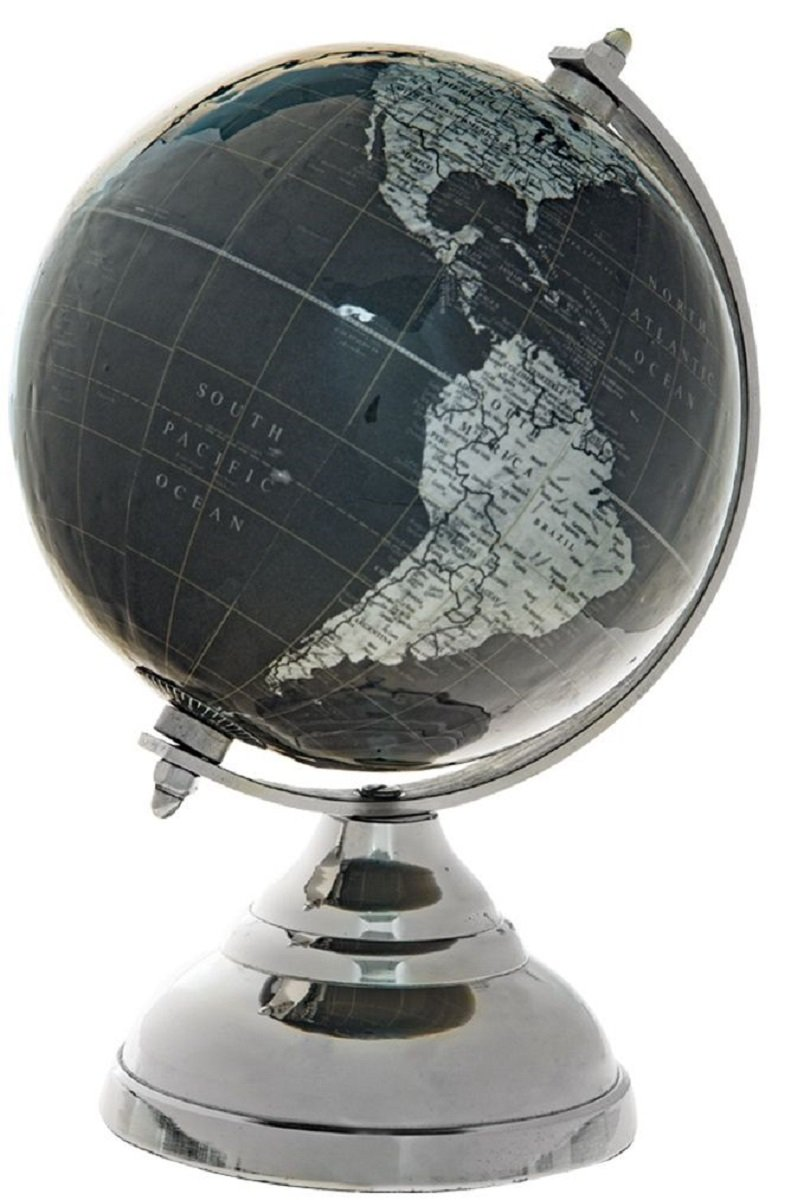 Gloss Decorative Globe On A Stand (Black)