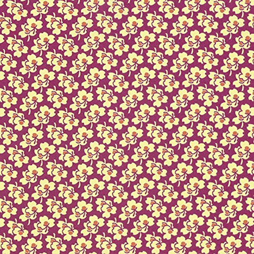 (Amy Butler PWAB163 Eternal Sunshine Pansies Cerise Cotton Fabric by Yard)