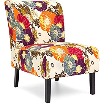 best choice products modern upholstered armless accent chair