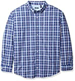 IZOD Men's Breeze Plaid Long Sleeve Shirt (Big & Tall), Twilight Blue, 3X-Large