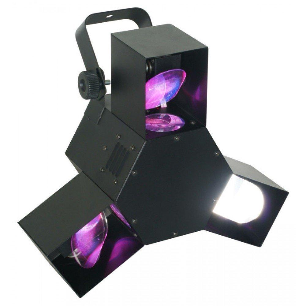 Beamz Triple Flex Centre Pro schwarz – stroboscopes & Disco Lights (schwarz, LED, 72 Lamp (S), 7 Channels, 20 °, AC)