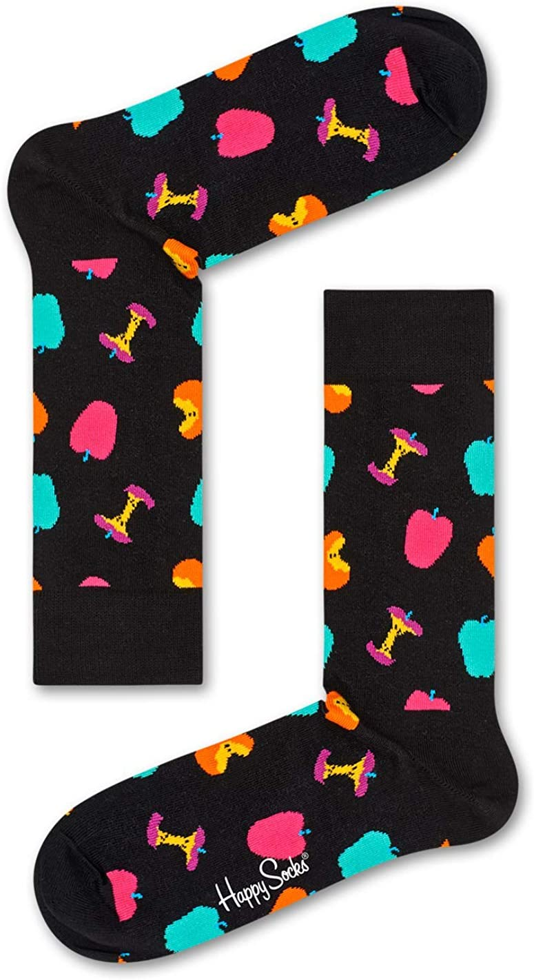 Happy Socks Mens and Womens Vitamins Apple Combed Cotton Socks Pack of 1