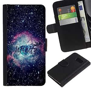 KLONGSHOP / Tirón de la caja Cartera de cuero con ranuras para tarjetas - Science Astronomy - Samsung Galaxy S6 SM-G920