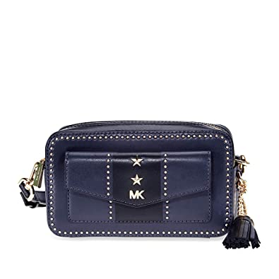 a7ea45e6ed05 Michael Kors Whitney Small Pocket Camera Leather Bag: Handbags: Amazon.com