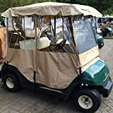 Asatr 4-sided Driving Enclosure Golf Cart Cover Electric Travel Club Car Covers for 2 Passenger 2 Seater