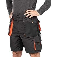 Verano Pantalones Cortos de Trabajo para Hombre, Multibolsillos