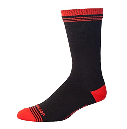 Showers Pass - Calcetines para Hombre, Impermeables, Color Rojo y Negro, Talla XXL