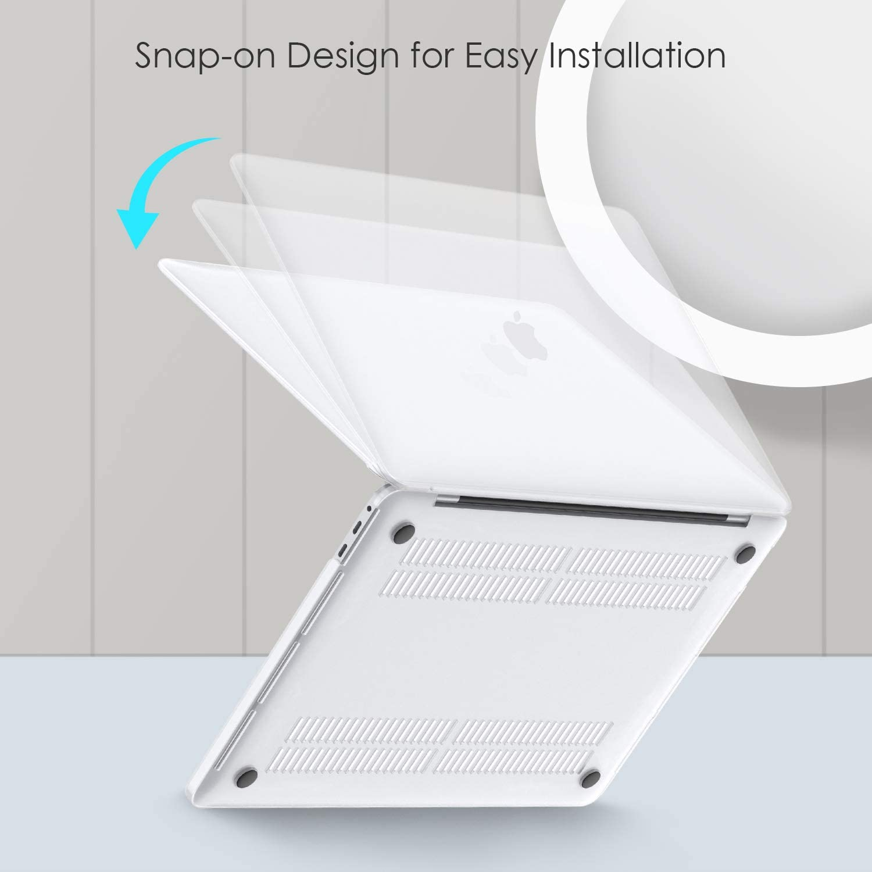 Transparente Acabado Mate con Patas de Goma lention Estuche r/ígido con Tapones Antipolvo compatibles con MacBook Pro 16 Pulgadas, 2019, Modelo A2141