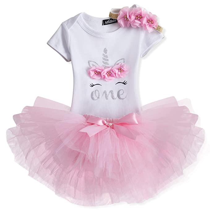 TTYAOVO Newborn Girls It's My 1st/2nd Birthday 4 Pcs Outfits