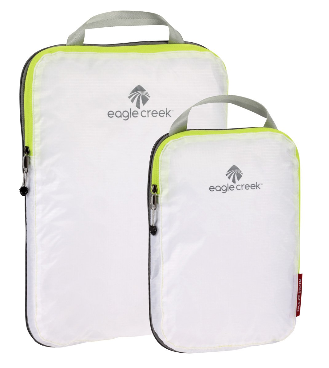 Eagle Creek Pack-It Specter Compression Packing Cubes, White/Strobe, Set of 2