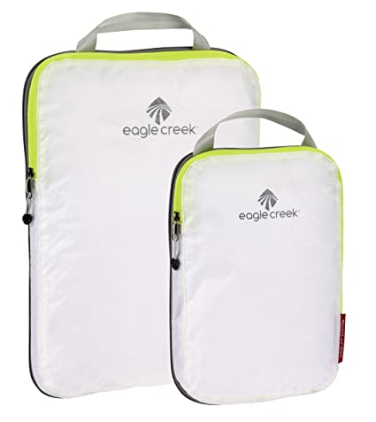 f400468a6059 Eagle Creek Travel Gear Luggage Pack-it Specter Compression Cube Set,  White/Strobe