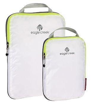 0a2047e3e797 Eagle Creek Travel Gear Luggage Pack-it Specter Compression Cube Set,  White/Strobe