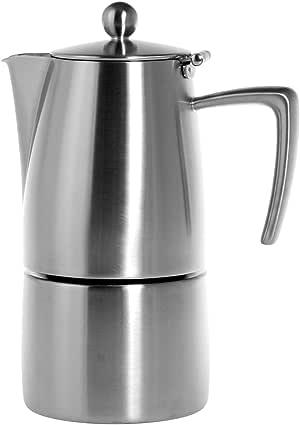 Ilsa Slancio Cafetera Espresso, con Fondo Inducción, Acero Inoxidable, Plata, para 4 Tazas: Amazon.es: Hogar