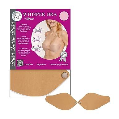 Braza Whisper - Strapless Silicone Bra - S/73000 Size A Beige