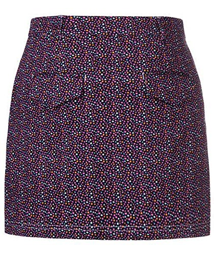 Skort 4 pockets front pleat coloured dots darkblue