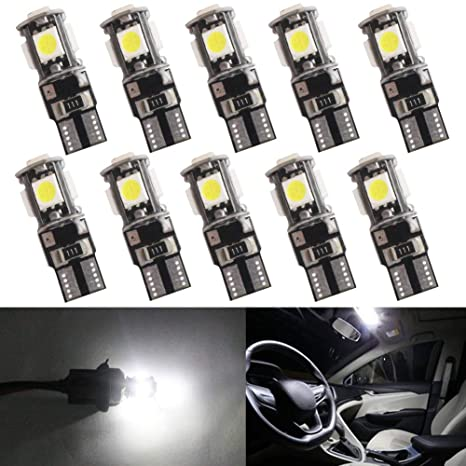 W5W Bombillas LED Canbus sin errores 501 T10 194 168 cuña 5-SMD 5050 coche