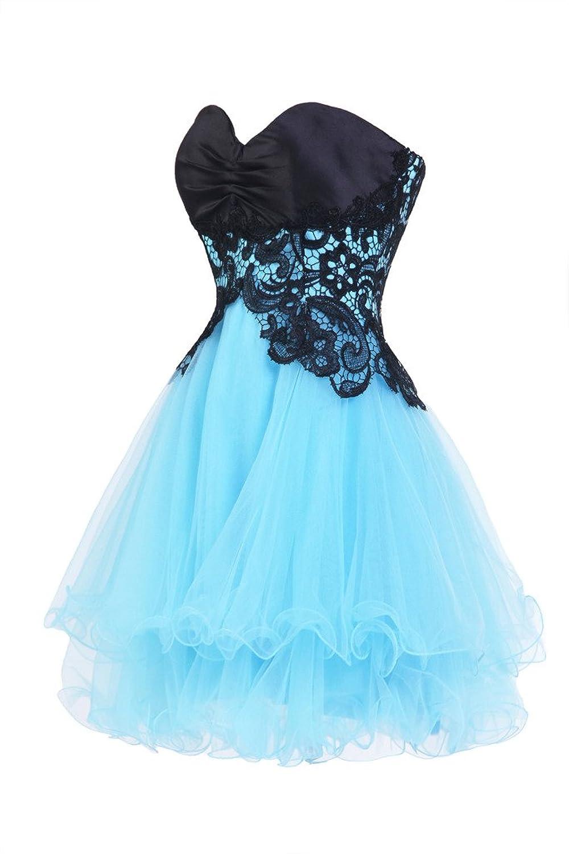 Ellames Sweetheart Bridesmaid Short Prom Homecoming Party Dresses ...