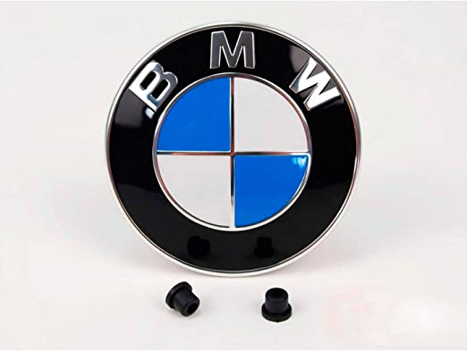 51148132375 3.2inch + 2.9inch Emblem Logo Compatible with B.M.W Luguoo 2 Pack Emblems Hood and Trunk