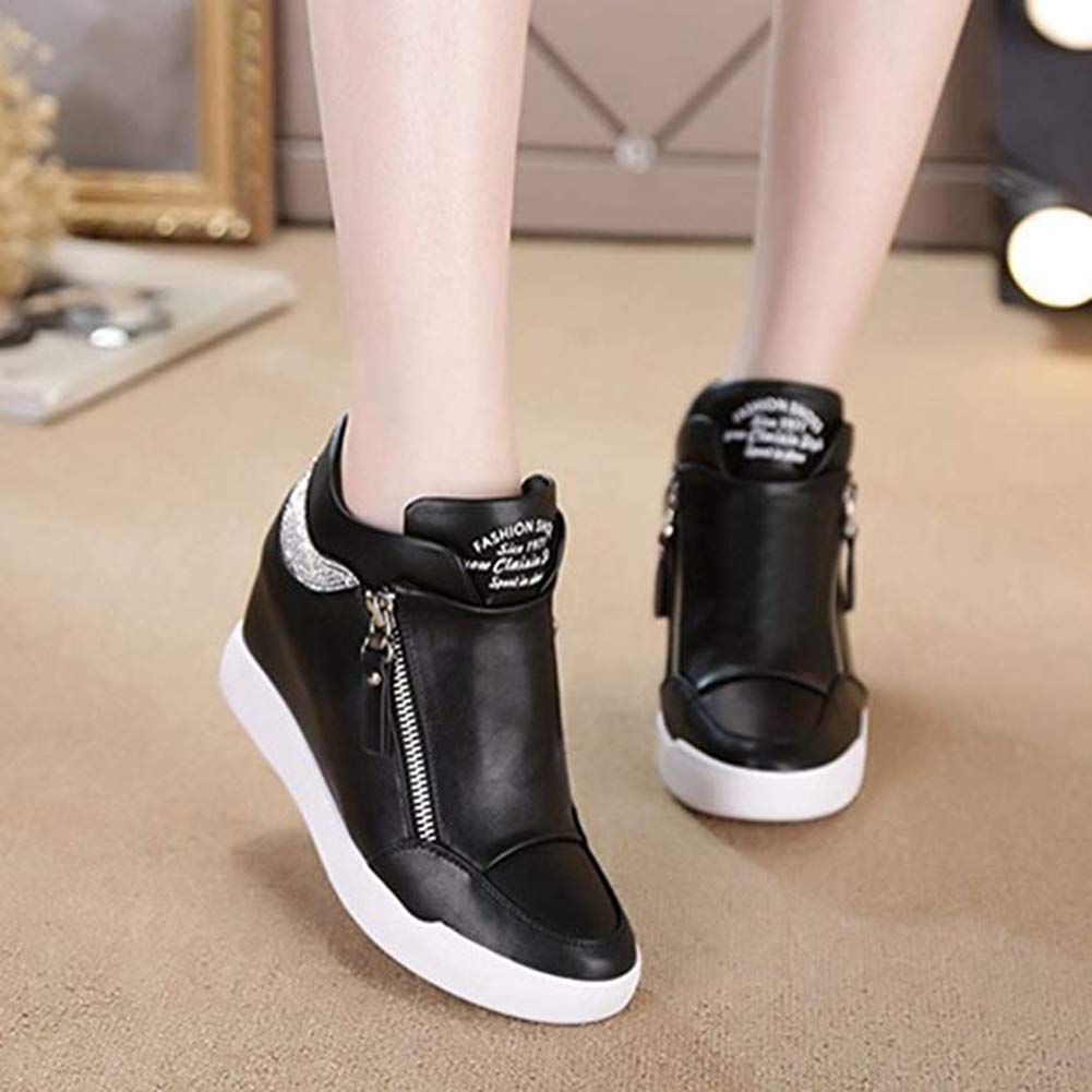 T-JULY Women's Fashion Wedges Platform Sneakers Running Height Sports Increased Height Running Shoes Slip-on Casual Walking Shoes B07GVHQJQ8 SlipShoesOn e01acd