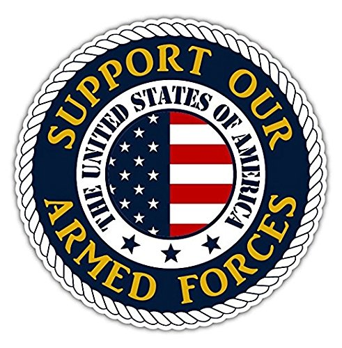 3 Pack - Support Our Armed Forces Support the Troops U.S.A Vinyl Bumper Sticker Decal