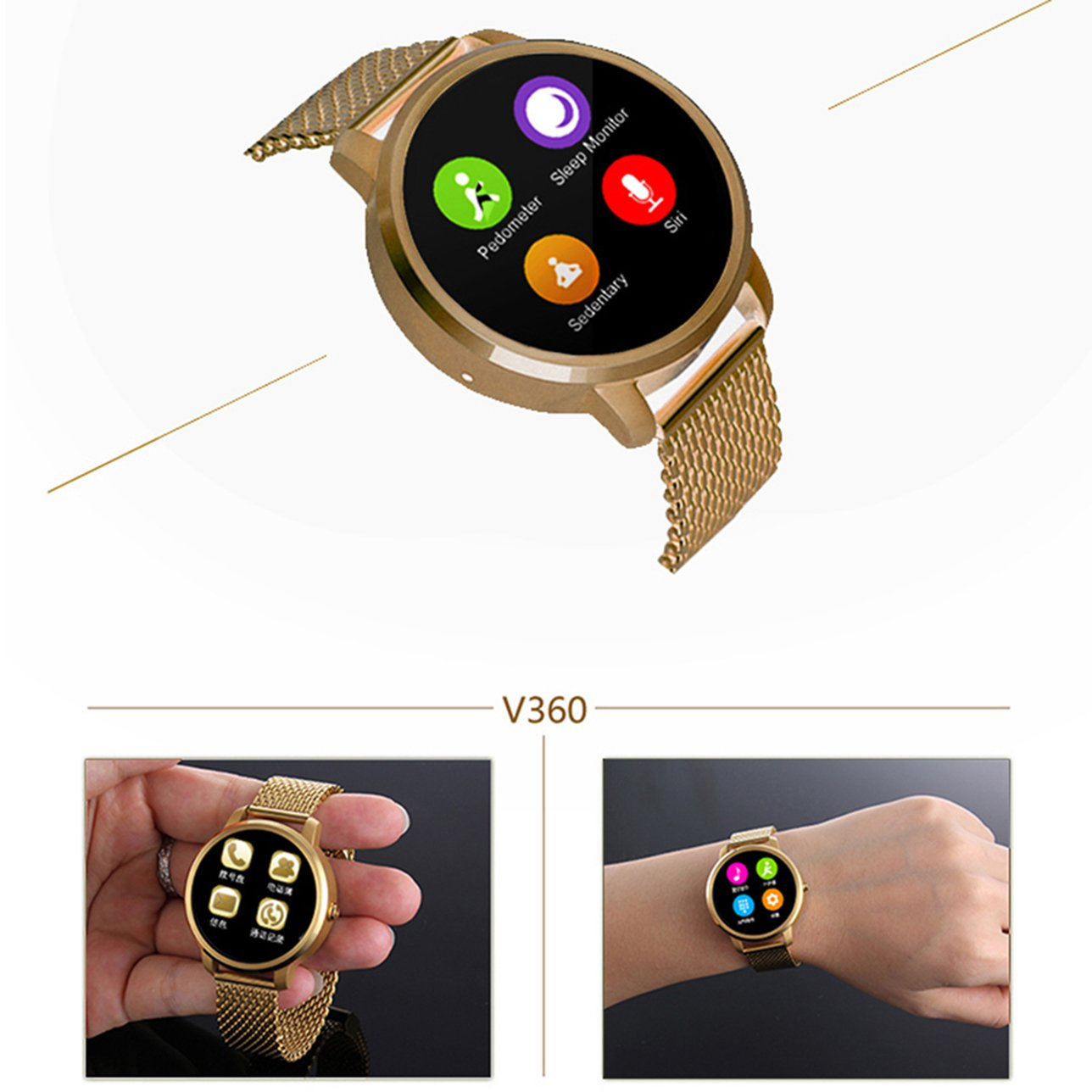 Sport Smartwatch Android/Bluetooth Smart Watch Fitness ...