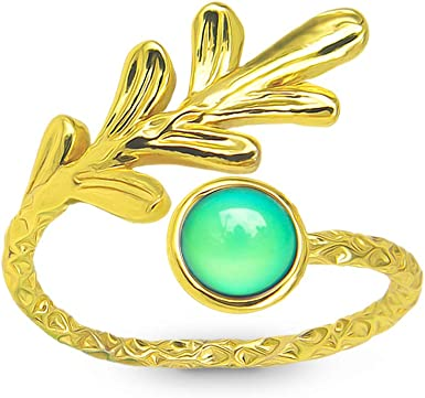 Pinky Rings Gold Brass Crescent Moon Jewelry Dainty Moon Ring for Women Men
