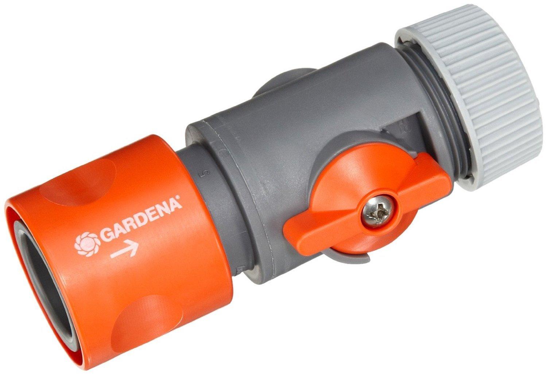 Gardena 02942 20 13 Mm Diameter Hose Connector With Control Valve   Orange:  Amazon.co.uk: Garden U0026 Outdoors