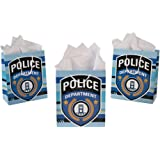 Pack of 12 - Police Party Medium Gift Bags - Party Loot Bags