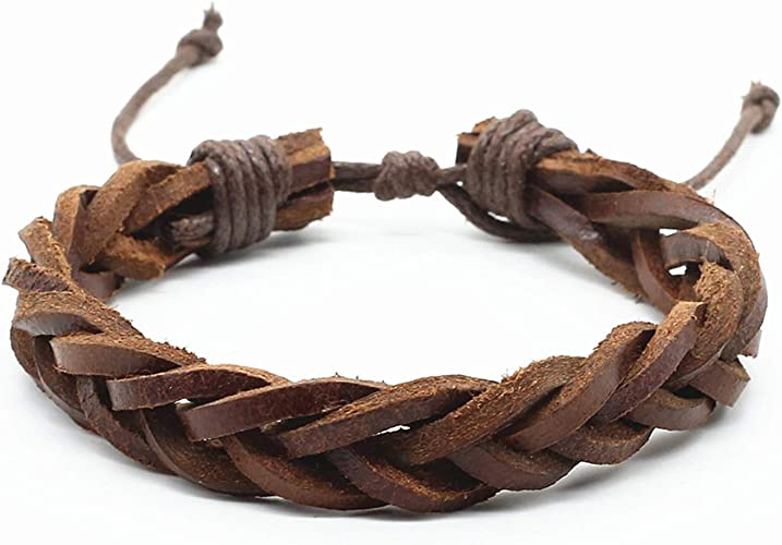 liberalism Handmade Vintage Wrap Rope Weave Female Femme Homme Male Men PU Leather Bracelet for Women Jewelry