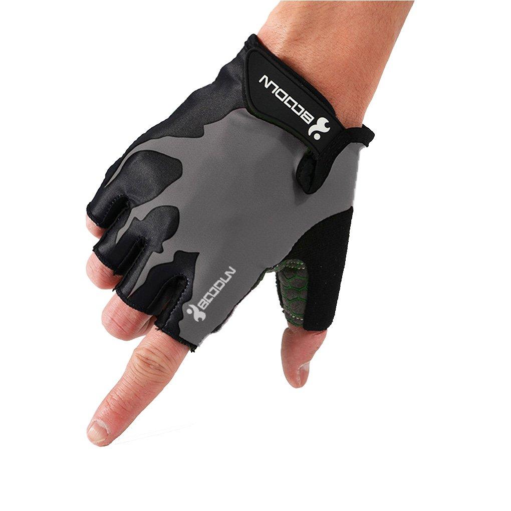 Bobury BOODUN antideslizante antideslizante medio dedo guantes transpirable para deportes al aire libre para bicicleta Ciclismo Fitness Gym