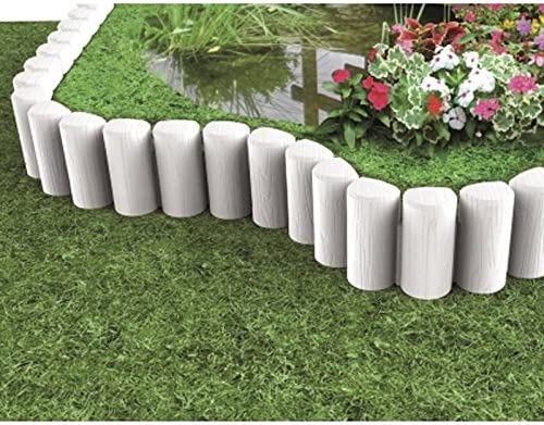 Modular bama-Borde limitador para jardín BLOK color blanco: Amazon.es: Jardín